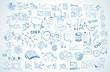 Leinwandbild Motiv Business doodles Sketch set : infographics elements isolated,