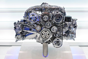 Car engine - concept of modern automobile motor