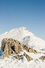Bettmeralp, Dorf, Alpen, Bettmerhorn, Wanderweg, Winter, Schweiz