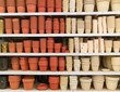 Ceramic flower pots at the shop - 78534780