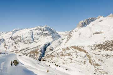 Riederalp, Dorf, Alpen, Fusshörner, Wallis, Winter, Schweiz
