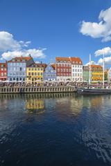Danimarca,Copenaghen, case sul porto di Nyhavn