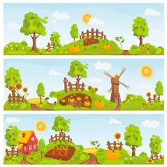 Rural landscapes illustration
