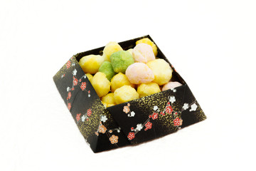 Hina-Arare rice cake cubes ( Japanese traditional sweets )