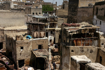 Fez's tanneries in Morocco