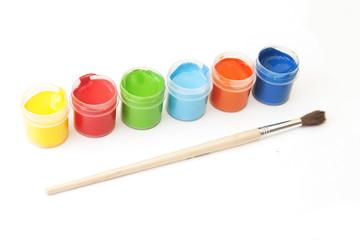 Palette of paints