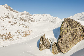 Riederalp, Dorf, Alpen, Aletsch, Wintersport, Wallis, Schweiz