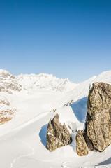 Riederalp, Dorf, Alpen, Wallis, Winterferien, Gletscher, Schweiz