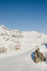 Bettmeralp, Bergdorf, Alpen, Wallis, Gletscher, Winter, Schweiz
