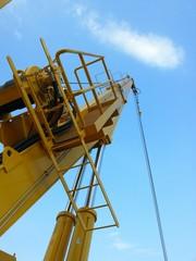 Crane at the oil&gas platform.