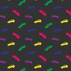 Pattern with colored cars