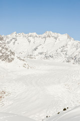 Bettmeralp, Dorf, Aletschgletscher,, Wintersport, Alpen, Schweiz