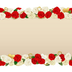 Vector Romantic Flower Frame