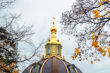 The dome of the grand tomb in the Peter and Paul Fortress