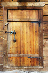 Locked  sheds door