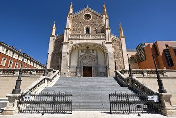 Gothic church San Jeronimo el Real, Madrid