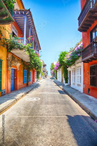 Poster Zuid-Amerika land Cartagena Streets