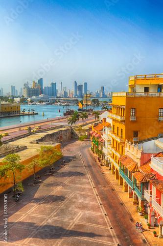 Aluminium Zuid-Amerika land Morning in Cartagena