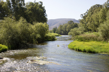 The Breede River in the Robertson Wine Valley South Africa