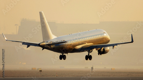Fotobehang Vliegtuig landing