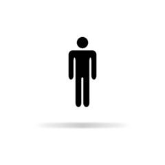 Man icon - vector illustration