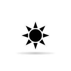 Eco sun icon - vector illustration
