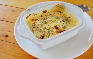 lasagna in the bowl
