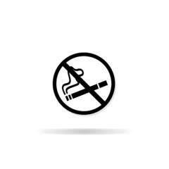 No smoking icon - vector illustration