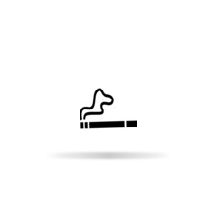 Smoke icon - vector illustration