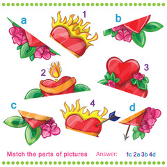 Match the parts of pictures