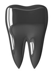Metallic tooth isolated