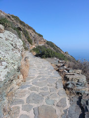 Stone path in Sifnos, Greece