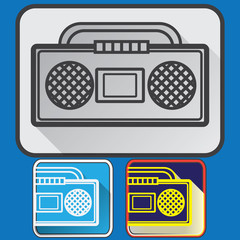 Old music player icons