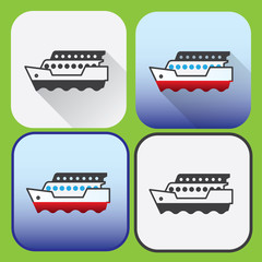 Icons of passenger ship