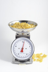 pasta to be cooked on weighing scales