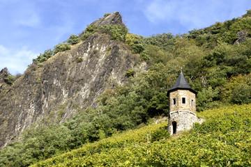 Landschaft mit Weinbergen unter dem Drachenfels, Königswinter