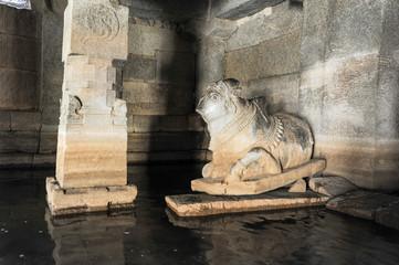 Underground Shiva temple at Hampi