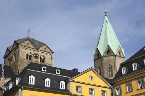 canvas print picture Abteikirche St. Ludgerus in Essen-Werden, Deutschland