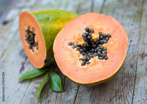 Fotobehang Vruchten papaya fruit