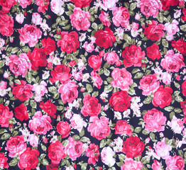 vintage style of tapestry flowers fabric