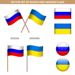 Dedicated to the conflict between Russia and Ukraine. Set of vec