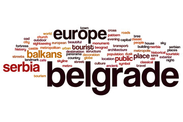 Belgrade word cloud