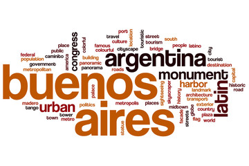 Buenos Aires word cloud