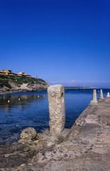 Italy, Giannutri Island, Roman port ruins - FILM SCAN