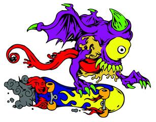 Evil Skateboarder