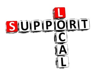 3D Crossword Support Local on white background