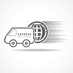 Express Delivery concept for increase the sell stock vector