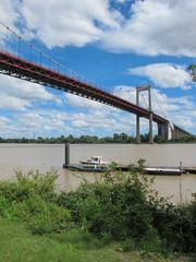 The Suspended bridge in Bordeaux