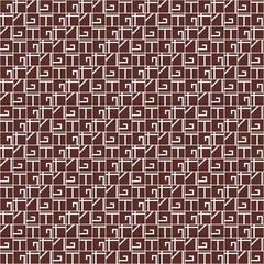 Monochrome geometric seamless pattern