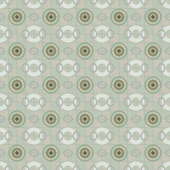 Seamless chess pattern of circles and rings
